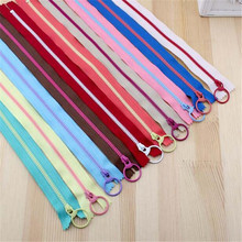 30CM 20 PCS Bump the color 3# Resin Zippers Lifting Ring Quoit Zipper DIY Handmade Accessory Sewing Craft Bag Garment Material
