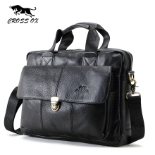 CROSS OX Genuine Leather Bag Casual Men Handbags Cowhide Men Crossbody Bag Men's Travel Bags Laptop Briefcase Bag for Man HB316F(China)