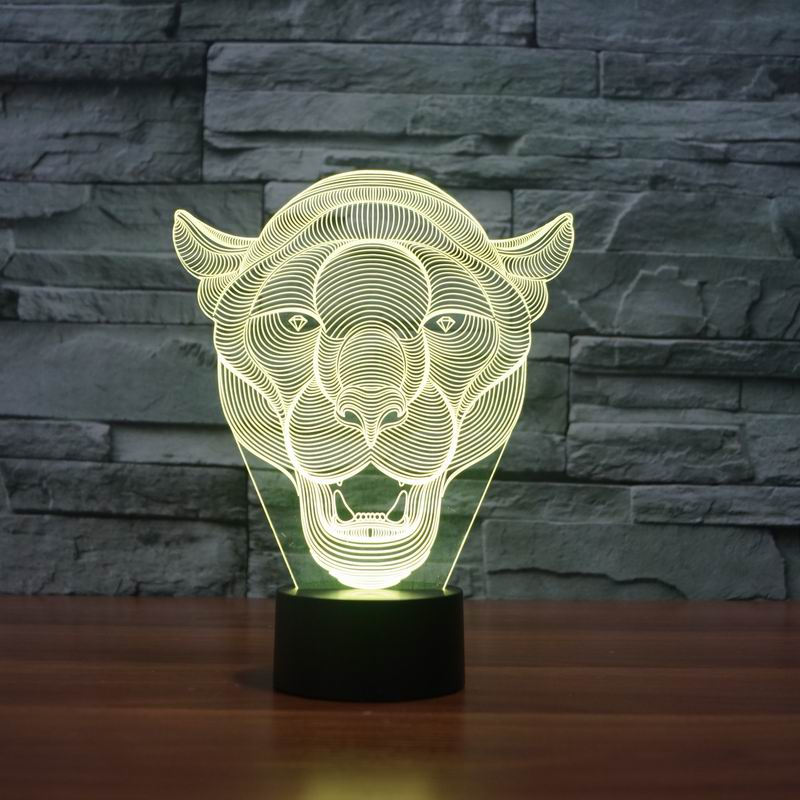 Lion Face 3D LED Light 3