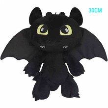 30cm 14'' How to Train Your Dragon 2 Toothless Night Fury Soft Plush Stuffed Doll Toy Christmas Gifts For Kids