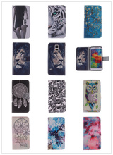 Flip PU Leather Case for Samsung galaxy S3 mini S4 mini S5 mini Stand Wallet Case Owl Tiger Lion Pattern Cover with Card Holder