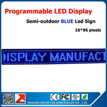 Blue color led display board 41*9 inches advertising signboard easy install scrolling message led screens china customized(China)
