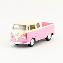 Free Shipping/1:34 Scale/1963 Volkswagen Double Cab Pickup/Pull Back Diecast Toy Car Model/Educational Classical Collection/Gift