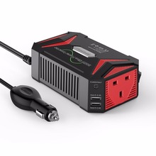 BESTEK Pure Sine Wave Power Inverter 12V 220V 300W Car DC To AC Converter Dual USB Auto Adapter 12V Power Supply Car Charger(China)
