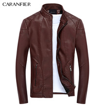 CARANFIER 2017 New Men Leather Jackets High Quality Motorcycles Bomber Jacket Pilot Leather Male Winter Waterproof Jacket(China)