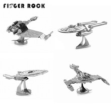 Finger Rock 3D Metal Puzzles Star Trek USS Enterprise NCC-1701 Model DIY Sainless Seel jigsaw Toy for Children Best Gifts