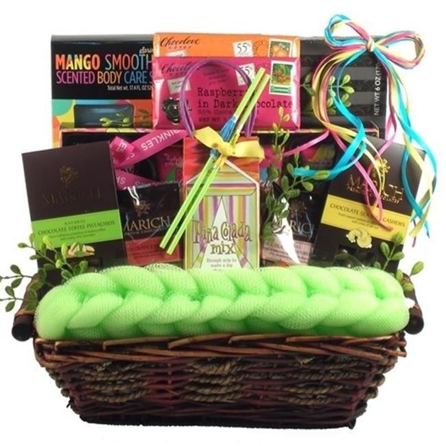 Gift Basket Drop Shipping JuBeTrSp Just Beachy Tropical Spa and Gourmet Gift Basket