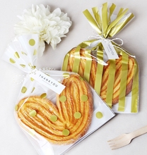 Gold Stripes/Polka dot large cookie bags / small gift bags/bridal shower/wedding favor/party favor/candle packaging 190pcs/lot
