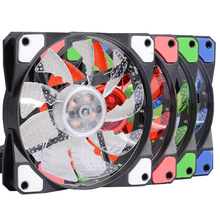 New style ACF-120 fan game mascherano blizzard big air volume ultra-quiet LED 12cm computer case 120*120*25 mm Fans Cooling(China)