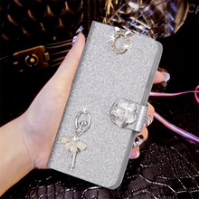 Luxury Glitter Diamond PU Leather Case For Samsung Galaxy S2 SII GT I9100 Cover Flip Original Wallet Phone Bag(China)