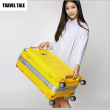TRAVEL TALE ABS hardside spinner suitcase baggage 28 vintage lock luggage bag on wheels(China)