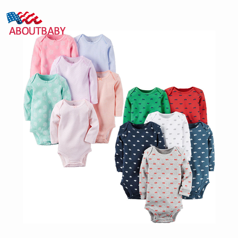 6PCS/LOT Newborn Girl Boy Baby Clothes High Quality Cute Cotton Full Sleeve Baby Rompers Roupas de bebe Infantil Costumes<br><br>Aliexpress
