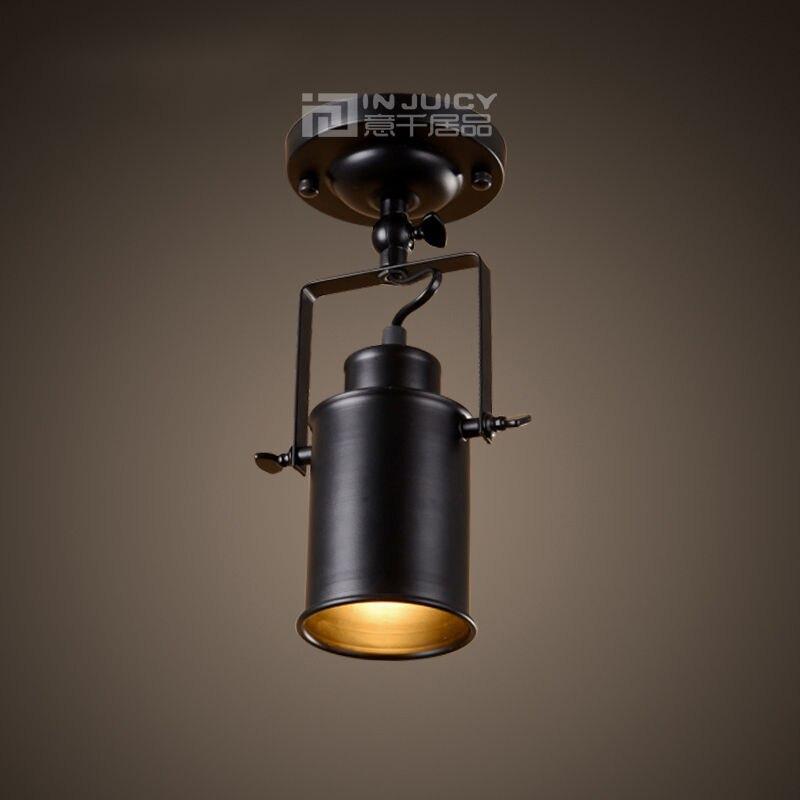 Nordic Vintage Industrial LED Iron Ceiling Light Lamp Droplight Bar Loft Aisle Store Reading Living Room Bedroom Cafe Hall Decor<br>