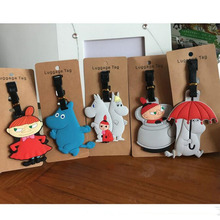 Moomin family Little My Snufkin PVC Keychain big luggage tag hang the plane boarding pass bag tags hanging ornaments bag listed