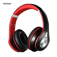 Mpow best On-Ear headset Headphone wireless Bluetooth 4.0 Built-in Mic Soft Earmuffs Noise Cancelling Stereo sound wired headset(China)