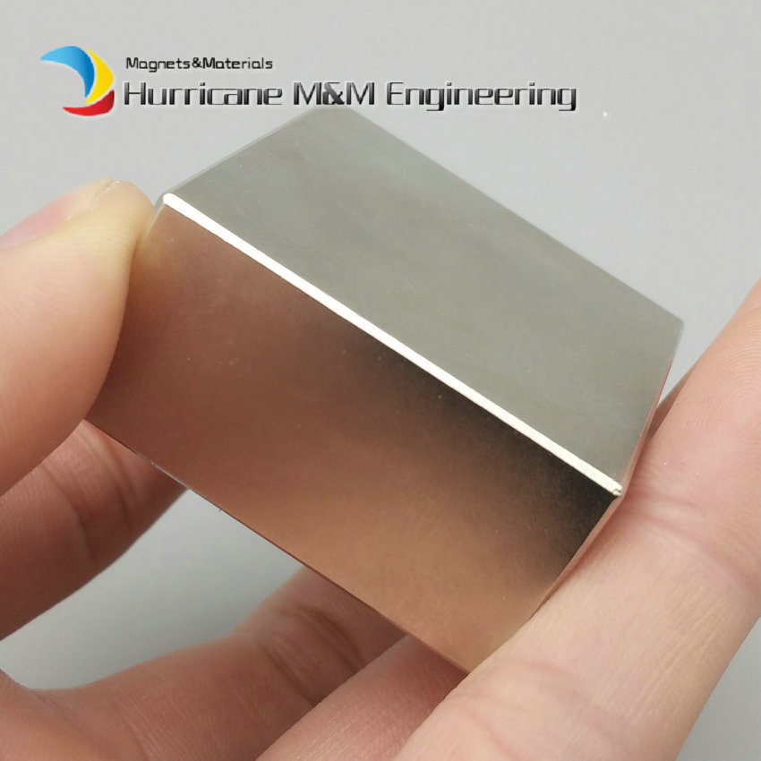 NdFeB N52 Block 50x50x25 +/-0.1mm water filter magnet 2x2x1 Strong Neodymium Permanent Magnets Rare Earth Lifting Magnets<br>