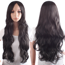 Free Shipping Cute Synthetic hair wave light brown black dark brown Long Curly Wigs high quality Promotion cosplay wig