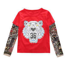 2017 New boys Children t shirts baby boy tattoo Sleeve new Clothes Girls Boys t-shirts Kids Sleeve Baby Children's Clothin