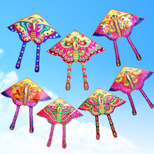 Outdoor Fun & Sports Cartoon Butterfly Kite Accessories without Handle Line Papalote Classic Toy Fly a Kite Flying Outdoor Toys(China)