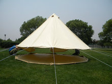 4M/5M/6M Waterproof Canvas bell tent Cotton winter tent wall rolled up for outdoor camping FR mildew proof(China)