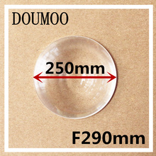 Large size a magnifying glass Fresnel Lens Focal length 290mm Diameter 250mm Focusing on amplification stage lighting DIY lens(China)