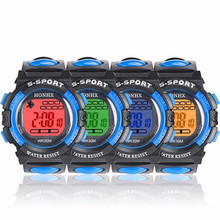 2017 Children Boys Girls Men Watch LED Digital Electronic wrist watches Multifunction Waterproof Kids Fashion Gift montre enfant