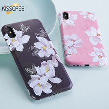 Buy KISSCASE Lovely Peach Floral Case iPhone X iPhone 8 Plus Soft IMD Fashion Cases iPhone 8 7 6s 6 Plus X 10 Stylish Cover for $1.99 in AliExpress store