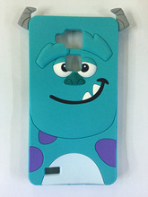 New arrival tiger Monsters Inc.Sulley Marie/Alice Cat slinky dog Soft silicone rubber cases covers for Huawei Ascend Mate 7 Case