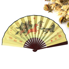 Free shipping 30pcs Sandalwood Vintage Chinese Folding Hand Fan for Men Home Decoration Accessories Decoracion Gifts(China)