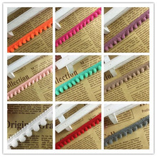 2 yards/lot Colorful Pom Pom Trim Ball Lace Fringe Ribbon DIY Sewing Accessory Decoration Lace Fringe Sewing Frabic Supplies