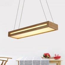 Solid Wooden 60CM lanterns creative Chinese style solid wood living room Pendant Lights minimalist dining table pendant lamp