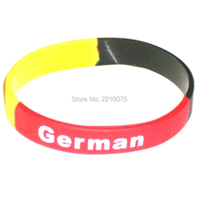 300pcs white logo Flag World Cup German wristband silicone bracelets free shipping by DHL express