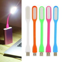 1 pcs New Ultra Bright 1.2W LEDs USB lamp for Notebook Computer Laptop PC Portable Flexible metal Neck LED USB light foldable