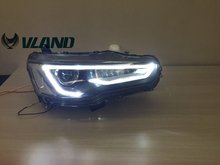 Free shipping for VLAND Car head lamp for Mitsubishi Lancer EX 2008-2015 LED head light Bi-Xenon lens headlights A5 design(China)