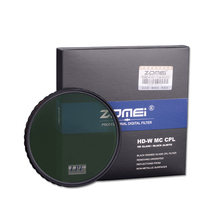 ZOMEI 52mm HD Slim Circular PL CIR-PL Polarizer Filter High Definition CPL For Nikon D5300 D5200 D5100 D3300 D3200 D3100