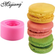 Macaroon Hamburger Silicone Molds Fondant Cake Mold Chocolate Soap Mould Kitchen Baking Decorating Cake Tools CC295(China)