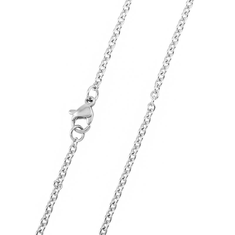 stainless steel urn pendant chain link memorial jewelry