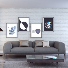 Modern Minimalist Fashionable Shape Color A4 Artistic Abstract Poster Image Canvas Wall Painting Home Decorative Printmaking