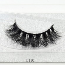 3D Mink Lashes Eyelash Extension 100% Handmade Thick Volume Long False Lash Makeup Giltter Packing 1 Pair D110(China)