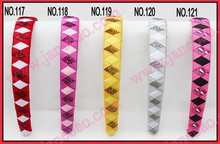 free freight 40pcs 3/4'' Ribbon Woven Headband braid headbands ribbon wraped headbands