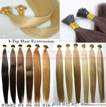 "18"" 100g/pack pre bonded stick hair I tip Keratin hair extensions 100% Indian Human Remy Hair"