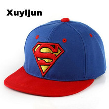 2016 New Fashion Superman Snap back Snapback Caps Hat Super Man Adjustable Gorras Hip Hop Casual Baseball Cap Hats for Men Women(China)