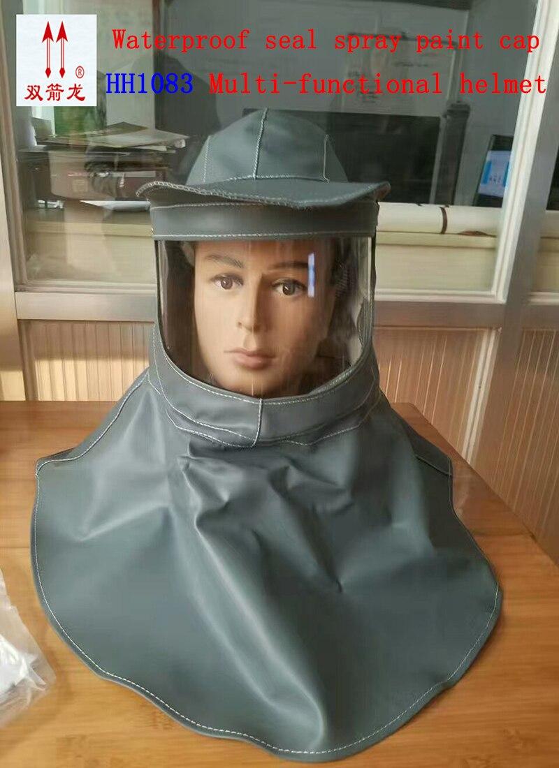 HH1083 Acid and alkali Face mask helmet Painting sandblasting profession Breathe Anti-smashing shawl safety hat<br>