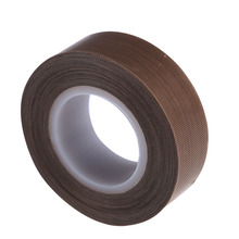 PTFE Coated Fiberglass Fabric With Silicone Adhesive Tape 19mm*10M Smooth Anti-stick Adhesive Tape High Temperature Resistance