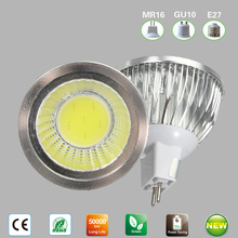 Cheap MR16 COB LED LAMP 6W 9W 12W GU5.3 MR16 LED COB SPOTLIGHT WARM WHITE 12V 110V 220V LED DOWNLIGHT DIMMABLE Lampada
