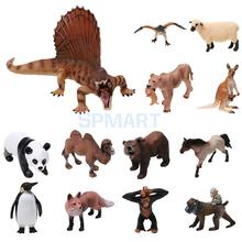 Realistic Wild/Zoo/Farm Animal Model Action Figure Kids Toy Collectibles(China)