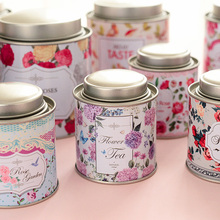 Floral Double Layer Seal Tea Candy Receive Box Candy Storage Box Wedding Favor Tin Box Cable Organizer Container 2A0273