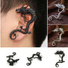 YouMap Retro Punk Rock Earring Dragon Alloy Quality Black Silver Bronze Color Ear Cuff Clip Earrings C26R12C