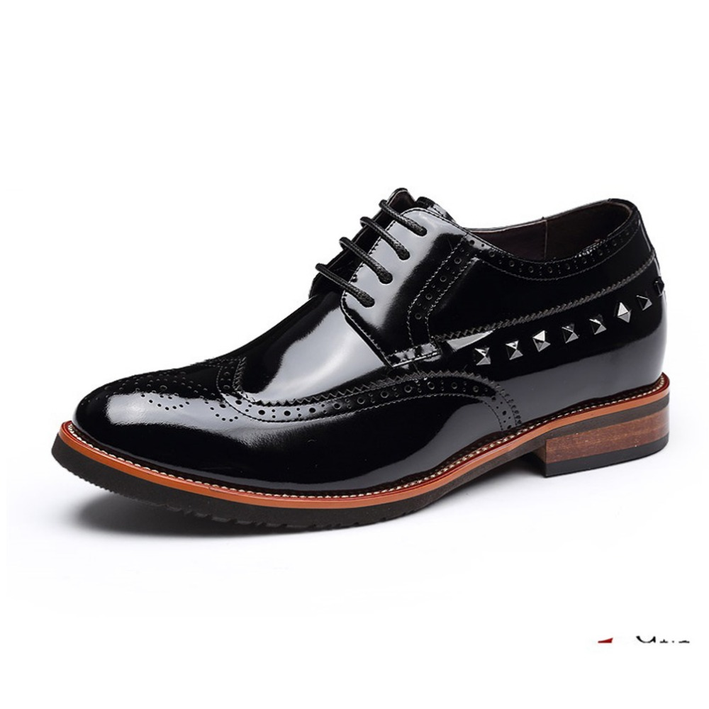 elevator shoes Calf Leather Mens Invisible Height Increasing Dress Formal Shoes, Wedding Shoes for Man Get Taller 7cm Instantly<br><br>Aliexpress