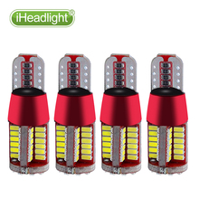 4x T10 W5W 194 3030 LED bulb 12V Turn Side License Plate Light bulb w5w super bright 57smd led width lamp instrument lights(China)